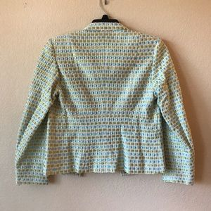 Talbots Jackets & Coats - Talbots Womens Silk Blend Woven Blazer Jacket